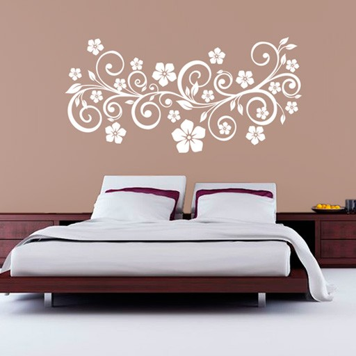 Vinilo decorativo floral - Vinilo pared barato ...