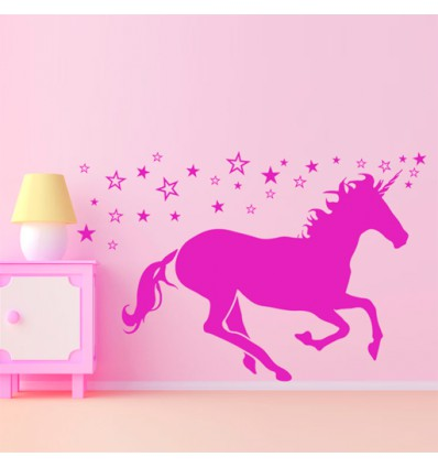 Vinilo decorativo unicornio for Cuarto de unicornio