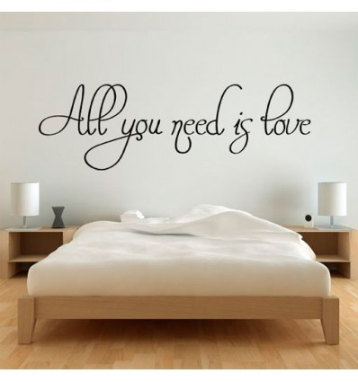 Vinilo decorativo all you need is love - Pegatinas para decorar paredes ...