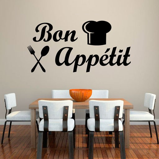 Vinilo decorativo bon appetit for Comedor en frances