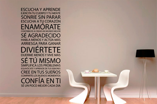 Frases de vinilo decorativo for Vinilos para bebes baratos