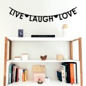 Guirnalda Live Laugh Love